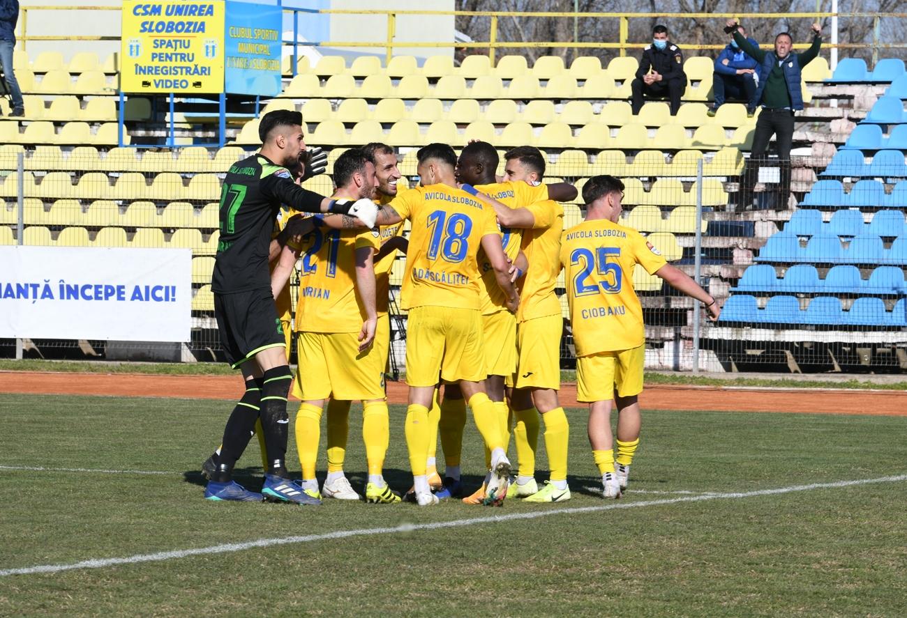 Unirea Slobozia nu a fost depășită de echipele care luptă pentru promovarea în Liga 1