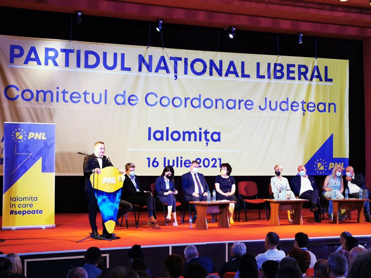 Dragoș Soare este președinte PNL Ialomița. Discursul său a fost decisiv